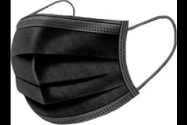 3-laags mondkapjes (niet medisch, zwart) 50-pack