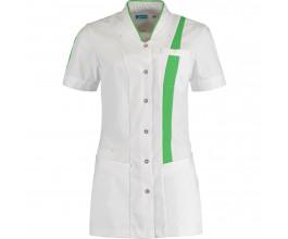 Damesjack De Berkel Lara Flex-Fit mouwen wit - fashion green